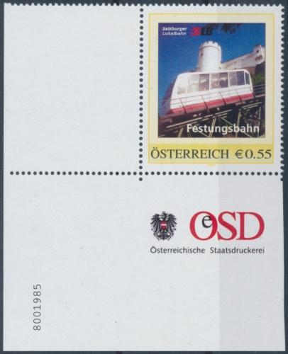 8001985 - PM - Personalisierte Marke - Salzburger Lokalbahn - Festungsbahn - Postfrisch ** / DB / Kommissionsverkauf