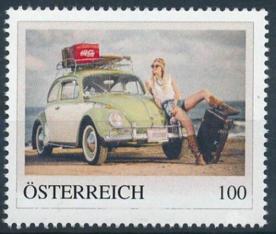 8136898 - PM - Personalisierte Marke - Auto - Volkswagen - VW KÄFER - Coca-Cola - Postfrisch ** / DB / Kommissionsverkauf