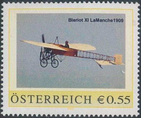 8005415 - PM - Personalisierte Marke - Flugzeug - Bleriot XI LaManche 1909 - Postfrisch ** / DB / Kommissionsverkauf