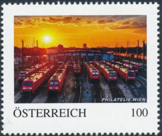 8138045 - PM - Personalisierte Marke - PHILATELIE.WIEN - Eisenbahn - Remise - Postfrisch ** / DB / Kommissionsverkauf