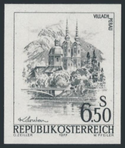 ANK 1593 - SD - Schwarzdruck - Schönes Österreich - 6,50 Schilling / DB / Kommissionsverkauf