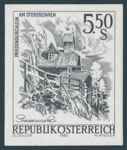 ANK 1741 - SD - Schwarzdruck - Schönes Österreich - 5,50 Schilling / DB / Kommissionsverkauf