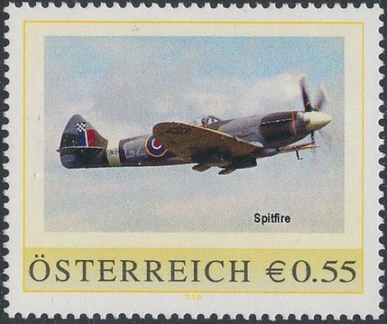 8005940 - PM - Personalisierte Marke - Flugzeug - Spitfire - Postfrisch ** / DB / Kommissionsverkauf